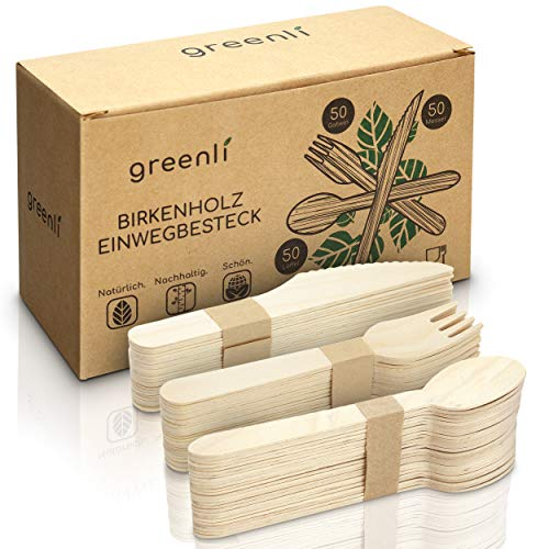 greenli greenli - 150 x Holzgabeln Bild