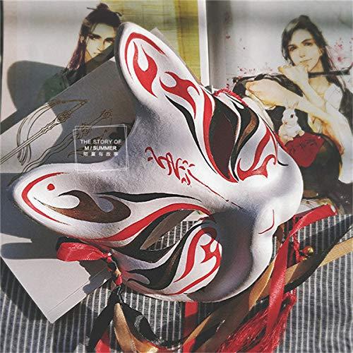 MSSJ Japanische Private Fuchs Maske handbemalte großmeister des dämonischen anbaus wei wuxian Fuchs Maske Halloween Cosplay po Requisitenb