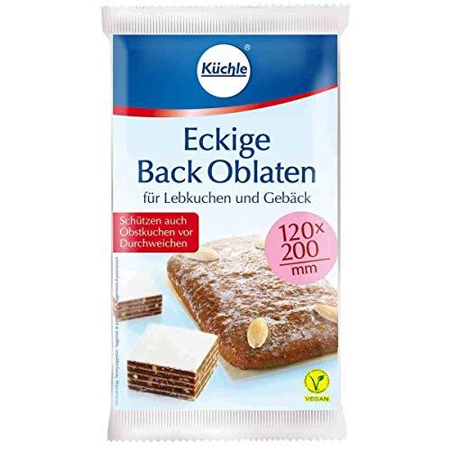 Eckige Backoblaten / Oblaten (120 x 200 mm / 10 Stück) XXL - FORMAT