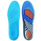 Quinone Plantillas GEL Sports Comfort, plantillas recortables para la absorción de choque, protección del talón y apoyo para el arco del pie, aliviar el dolor del pie y la fascitis
