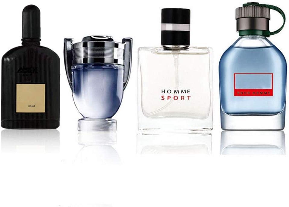 Eau de Toilette para Hombre de 4 * 25 Ml, Perfume para Hombre, Set de Perfume Colonia, Regalo Duradero de Perfume de Acción de Gracias de Navidad Tu Novio u Amigo
