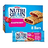 Nutri-Grain Soft Baked Breakfast Bars, Made with Real Fruit and Whole Grains, Kids Snacks, Raspberry, 10.4oz Box (8 Bars)