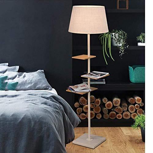 QIDOFAN Lámpara de pie De pie luminarias de pie luminarias creativas dormitorio sala de estar Sofá Mesa de café simple moderna Vertical (Color : White)