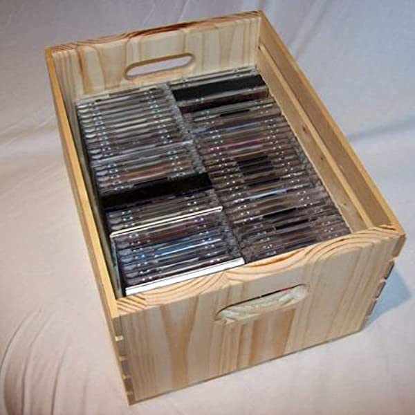 Wood CD Storage Crate