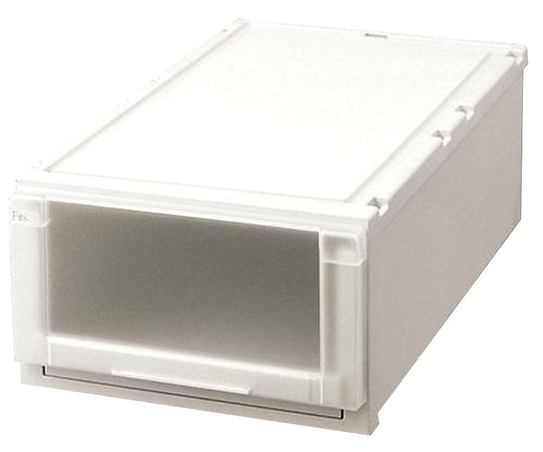 小康撃退する翻訳する天馬 収納ボックス 衣類用 フィッツユニットケース 押入れ用 カプチーノ ホワイト 幅39×奥行74×高さ23cm L3923