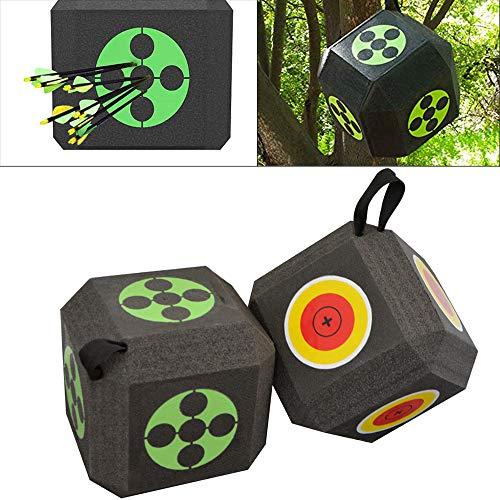 AMEYXGS Tiro con Arco Dianas Flecha Sólida Objetivo Disparo Objetivo de Flecha 3D Objetivo Dados 23 * 23 * 23 cm (Verde)