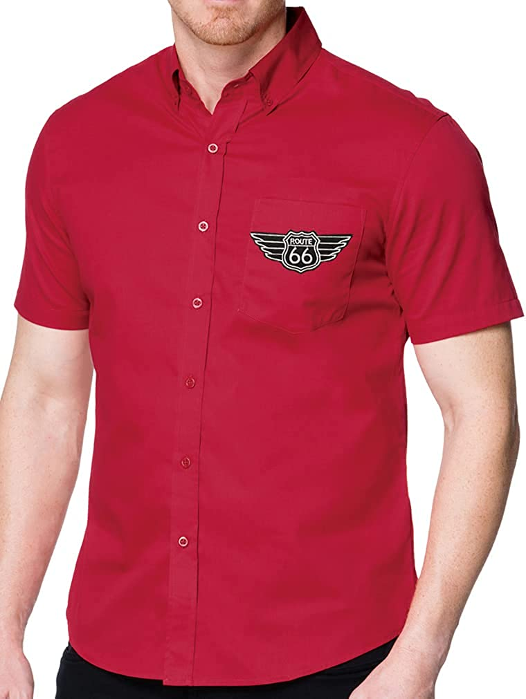 Buy Cool Shirts Route Rt 66 Patch Shirt with Pocket - Regular, Big and Tall Sizes
