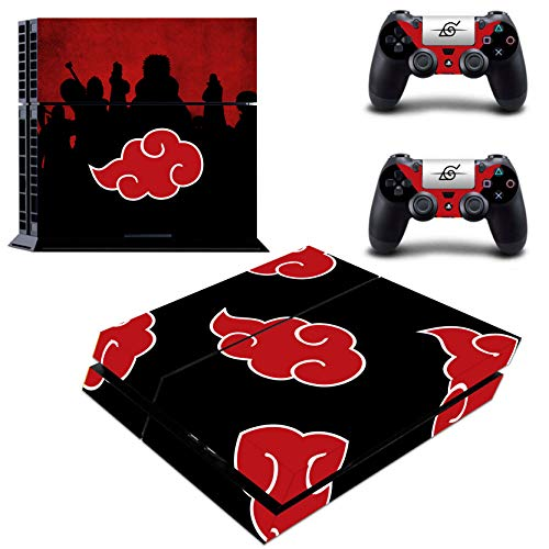 Decal Moments Regular PS4 Console Controllers Vinyl Skin Decal Stickers Protective for Playstaion 4 Red Cloud