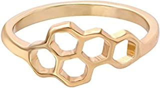 Best gold honeycomb ring Reviews