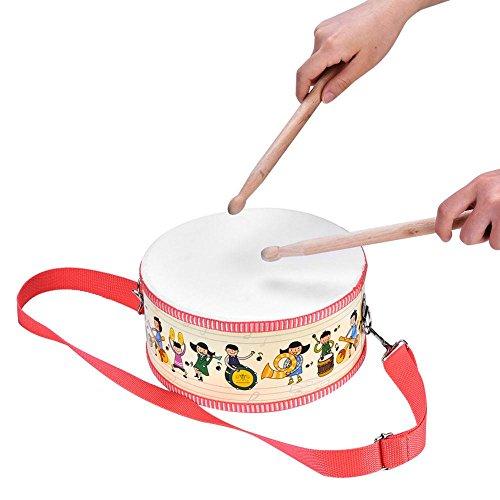 Dilwe Tambor de Juguete Musical para Ni?os, Mano de Madera