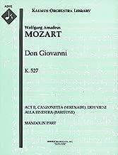 Don Giovanni, K.527 (Act II, Canzonetta (Serenade): Deh vieni alla finestra (baritone)): Mandolin part (Qty 7) [A2932]