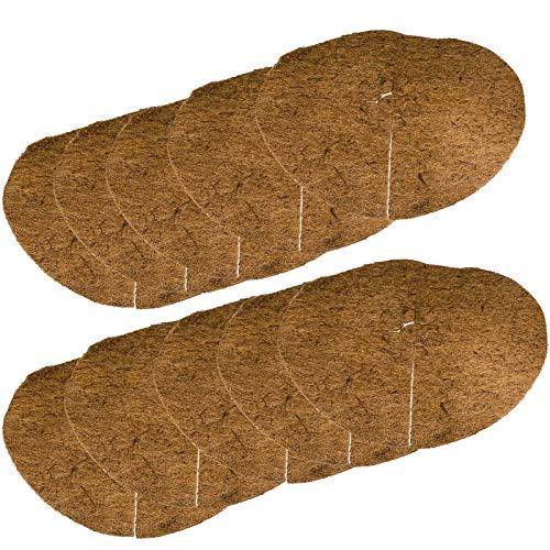 SIDCO Kokosscheiben 10er Mulchscheiben 40cm Winterschutz Unkrautschutz Pflanzenschutz