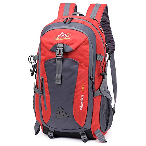 TnXan Waterproof USB Charging Climbing Unisex Male Travel Backpack for Men Outdoor Sports Camping Hiking Backpack School Bag Pack45L