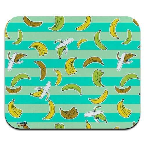 Mausmatte, reife Bananen Muster Low Profile Dünne Mauspad Mousepad, Gaming Mouse Pad