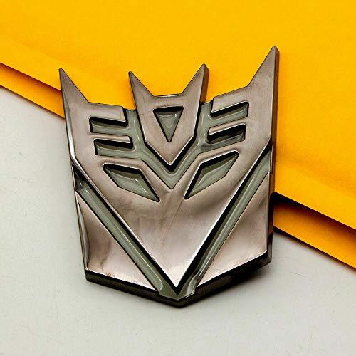 Amazing 3D Transformers Decepticon Logo 4' Matte Finish Aluminum Emblem Badge Decals Car Durable