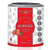 Amazonas Naturprodukte - BIO Acerola Pulver | Reichhaltiges Vitamin C der Acerola Kirsche | Vitamin C- Haushalt auffüllen | Ohne Gentechnik | 100 g