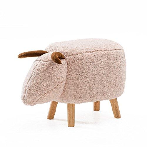 MEIDUO Durable Selles Tabouret Tabourets créatifs pour enfants Tabouret en bois massif Tabouret de canapé Une variété de formes/couleurs animales pour intérieur extérieur (Couleur : 10)