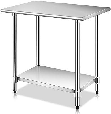 Amazon.com: rockpoint NSF mesa de acero inoxidable, 48-Inch ...