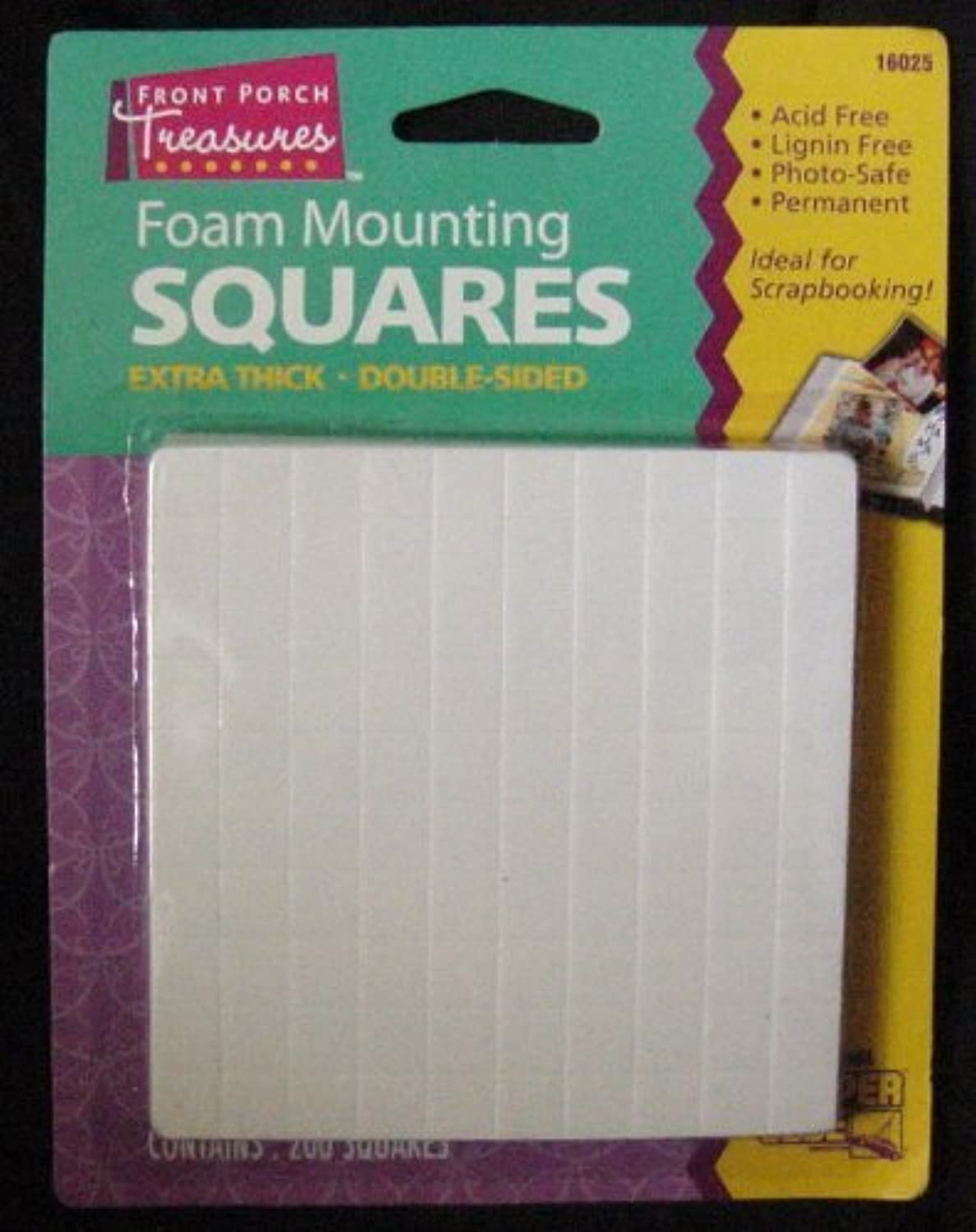 Foam Mounting Squares Double Double Double Sided Extra Thick Small 200 Squares Per Package by front portch treasures B0046NQKJW | Neueste Technologie  34694c