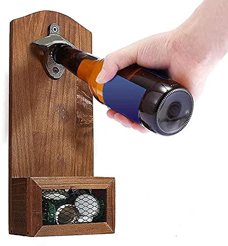 Abrebotellas magnético para nevera, baloncesto, cerveza, montaje en pared, abridor de botellas de madera, abridor de botellas para el hogar, bar, decoración, regalo, B