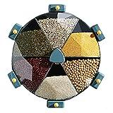 8,5 l a parete grano diviso dispenser di cereali rotante contenitori di stoccaggio possono plastica riso secchio scatola organizzatore alimentare rotante contenitore contenitore può