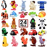 Wind-Up Toys, 24 Pack Assorted Mini Toy for Kids Party Favors, Birthday Goody Bag Filler Preschool Toy for Boys Girls ChildrenGifts Pinata Filler Carniva Prizes Classroom Incentive Reward