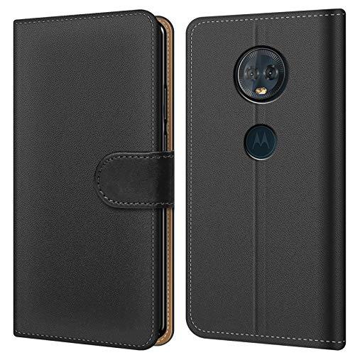 Conie BW21367 Basic Wallet Kompatibel mit Motorola Moto G2, Booklet PU Leder Hülle Tasche mit Kartenfächer & Aufstellfunktion für Moto G2 Hülle Schwarz