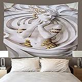H/H Tapiz Escultura En 3D Tapices Mat Manta De Toalla De Playa, Sábana De Playa De Picnic, Boho, Colgante De Pared Decorativo 220(H) X240(An) Cm