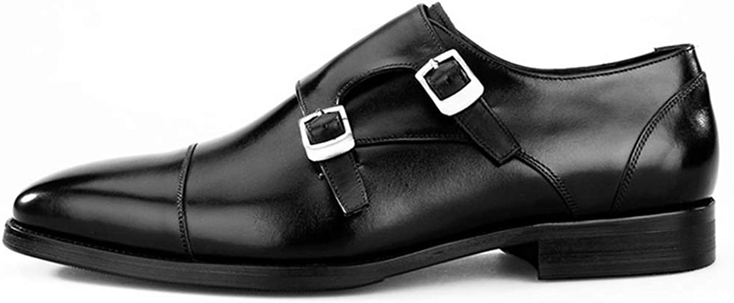 Men's Leather shoes Lace-Up Formal Oxfordswedding Business Work Dress Party Pointed Toe Flat Black Size 6 7 8 9 10