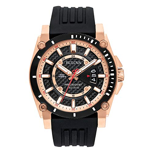 Bulova Men's 98B152 Precisionist Analog Chronograph Black...