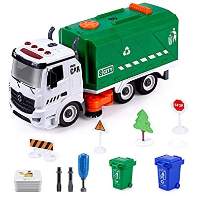 Amazon - Save 55%: SameTech Friction Garbage Street Sweeper Trucks Toy with Light, Sound and Ca…