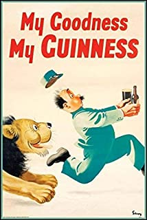 Guinness Lion Keeper Vintage Beer Alcohol Advertising Art Poster Print 11 by 14
