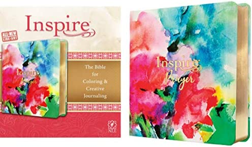 Inspire PRAYER Bible NLT LeatherLike Joyful Colors with Gold Foil Accents The Bible for Coloring product image