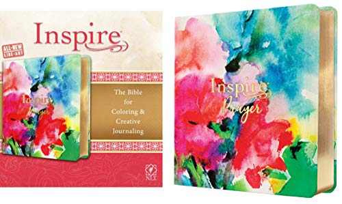 Inspire PRAYER Bible NLT (LeatherLike, Joyful Colors with Gold Foil Accents): The Bible for Coloring & Creative Journaling