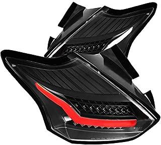 For Ford Focus Hatchback Black Rear LED Tail Lights Parking Brake Lamps Left+Right
