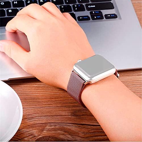 Pulseira Milanese Compatível com Apple Watch Series e Iwo Rose Gold Tamanho:38