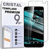 REY Protector de Pantalla para VODAFONE Smart Platinum 7, Cristal Vidrio Templado Premium