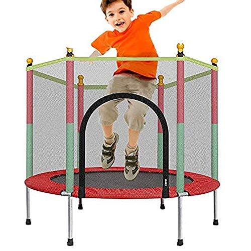 Gerzely Trampolino Sportivo per Bambini, Trampolino Rotondo con Rete per Saltare E Copertura A Molla Carico Massimo 200 kg Trampolino All aperto per Bambini E Adulti