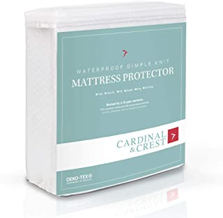 Cardinal & Crest Bed Protector - Hypoallergenic Vinyl Free Stretch Knit Mattress Pad - Dust Mite Resistant Covering - Cover Protects Bedding from Moisture and Stains - California King Size - 10 Pack