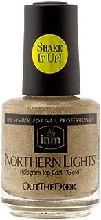 INM Northern Lights Hologram Top Coat Gold .5 oz