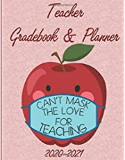 Teacher Gradebook and Planner 2020-2021: Class Record Book for 8 classes and 45 weeks