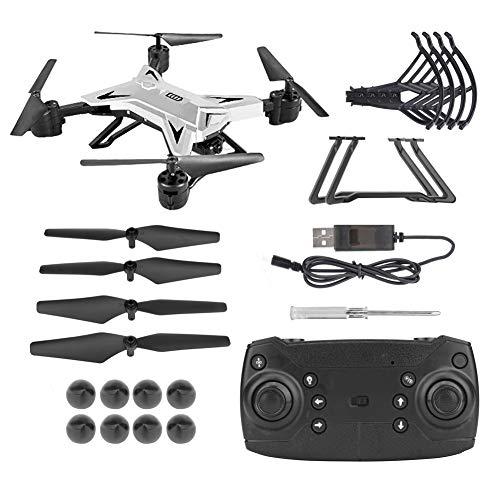 【𝐏𝐚𝐬𝐜𝐮𝐚】 RC Drone, KY601S Plegable RC WiFi Quadcopter Drone sin Cabeza con cámara HD(White 5MP Camera)