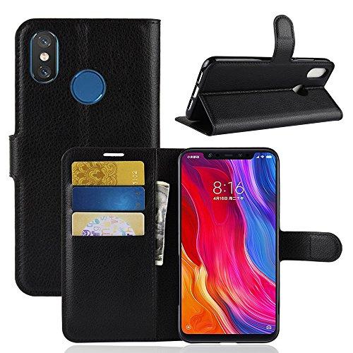 AIOIA Custodia per Xiaomi Mi 8,Portafoglio Wallet Libro Case Cover in PU pelle Borsa e Cinghia Portatile TPU Silicon Gel...