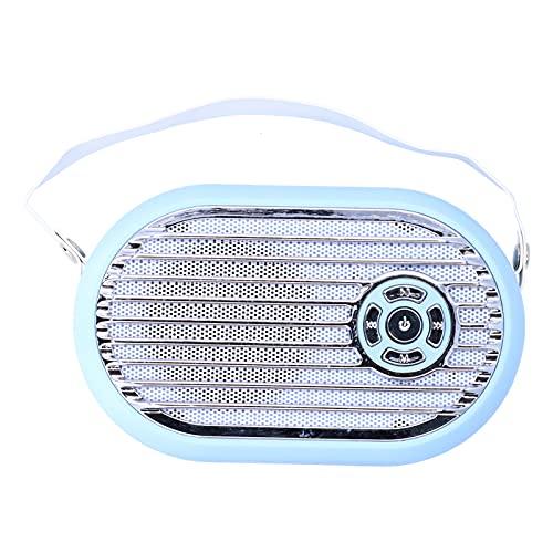 Mini Altavoz, Altavoz de Audio de Escritorio inalámbrico Bluetooth 5.0 estéreo portátil Q6, Altavoz Multimedia con micrófono de reducción de Ruido Incorporado, batería Grande de 2000 mAh(Azul)