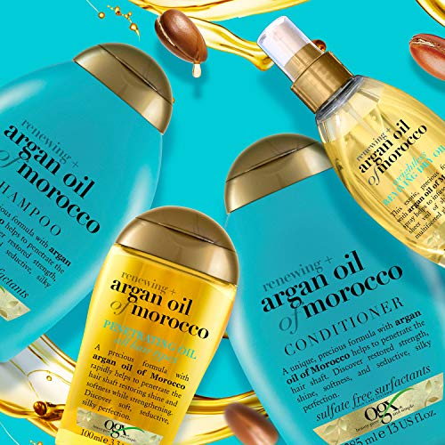 OGX Argan Moroccan Oil Shampoo for Dry Hair 385 ml Sulfate Free Surfactants