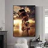 N / A Pintura sin Marco Mujer Africana Pintura en Lienzo Egipcio Carteles e Impresiones Murales de Sala de Estar escandinavos CJX2187 30X40cm