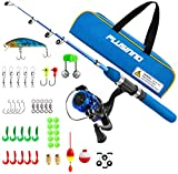 PLUSINNO Kids Fishing Pole,Light and Portable Telescopic Fishing Rod and Reel Combos for Youth...