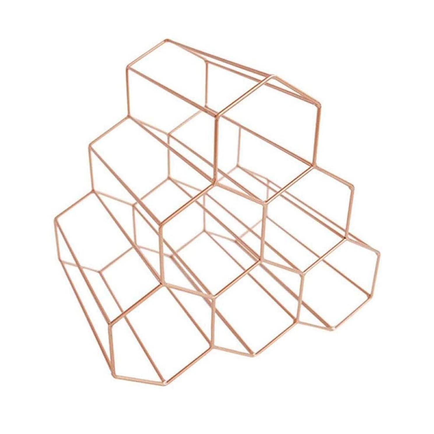 指定にもかかわらず追い付く幾何学的なワインラック金属ミニマリストホームブドウラックダイニングルームリビングルームバーワインキャビネット