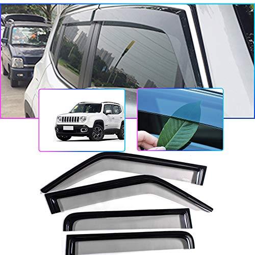 Auto Windabweiser Für J eep Renegade 2016-2019 Seitenfenster Blockiere die Sonne und den Regen Durchscheinender Fensterabweiser 4 Stück Set