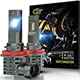 Cougar Motor H11 | H8 | H9 LED Bulb, 10000LM 6500K Cool White All-in-One Conversion Kit Direct Installation, Halogen Replacement